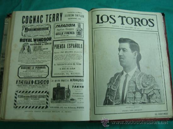 Libros antiguos: Libro encuadernado de la revista taurina LOS TOROS 1909 - Foto 17 - 34737505