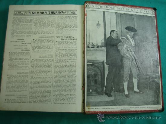 Libros antiguos: Libro encuadernado de la revista taurina LOS TOROS 1909 - Foto 18 - 34737505