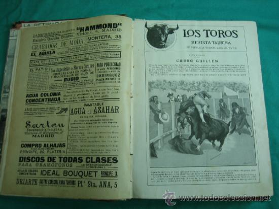 LIBRO ENCUADERNADO DE LA REVISTA TAURINA LOS TOROS 1909 (Libros Antiguos, Raros y Curiosos - Bellas artes, ocio y coleccionismo - Otros)