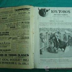 Libros antiguos: LIBRO ENCUADERNADO DE LA REVISTA TAURINA LOS TOROS 1909. Lote 34737505