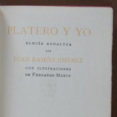 Libros antiguos: PLATERO Y YO. ELEGIA ANDALUZA. JUAN RAMÓN JIMÉNEZ. Lote 34788049