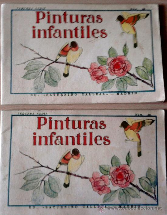 2 CUADERNOS -PINTURAS INFANTILES- SATURNINO CALLEJA-MADRID- AÑO 1935, PRE GUERRA CIVIL ESPAÑOLA. (Libros Antiguos, Raros y Curiosos - Literatura Infantil y Juvenil - Otros)
