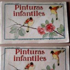 Libros antiguos: 2 CUADERNOS -PINTURAS INFANTILES- SATURNINO CALLEJA-MADRID- AÑO 1935, PRE GUERRA CIVIL ESPAÑOLA.. Lote 34811969