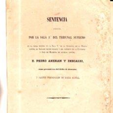 Libros antiguos: CUBA, LA HABANA 1871, DERECHO, SENTENCIA DE DESACATO, MADRID 1871, HOLANDESA, 87PÁGS, RARO, 28X20CM. Lote 34869680