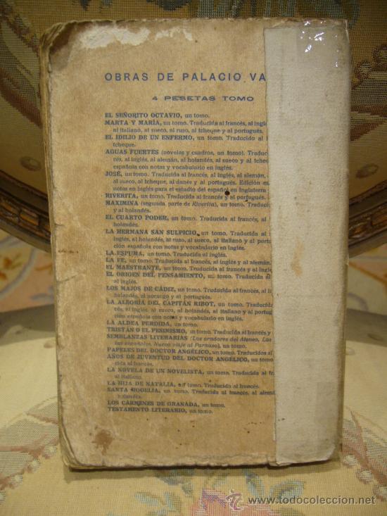 Libros antiguos: SINFONIA PASTORAL DE A. PALACIO VALDES. 1ª EDICION 1.931. - Foto 2 - 35182445