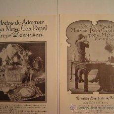 Libros antiguos: DOS FASCICULOS, MODOS DE ADORNAR UNA MESA Y COMO HACER MARCOS PARA CUADROS. Lote 35194563