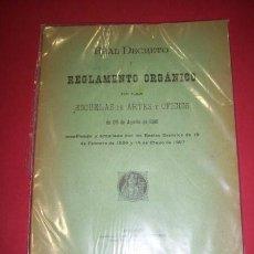 Libros antiguos: MINISTERIO DE FOMENTO - REAL DECRETO (...) DE LAS ESCUELAS DE ARTES Y OFICIOS (...) 1895. Lote 35277300