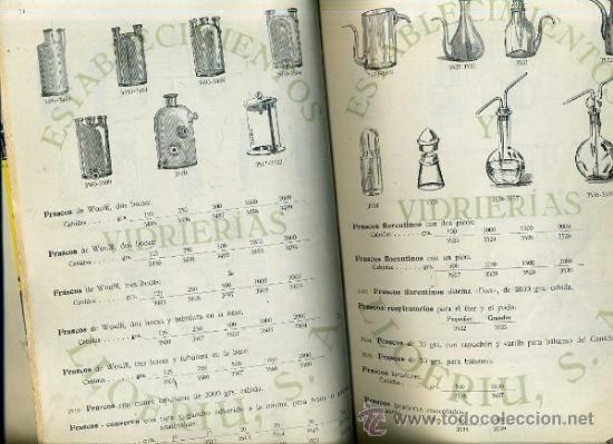 Libros antiguos: CATÁLOGO PARA LABORATORIOS DE ESTABLECIMIENTOS Y VIDRIERÍAS LLOFRIU (MALLORCA, 1930) - Foto 3 - 35345340