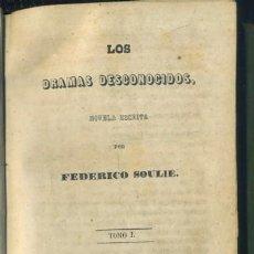 Libros antiguos: LOS DRAMAS DESCONOCIDOS. 3 TOMOS EN UN VOLUMEN ( OBRA NO COMPLETA ). Lote 35376799