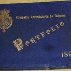 Libros antiguos: 1898 PORTFOLIO COMPAÑIA ARRENDATARIA DE TABACOS IMAGENES D LAS FABRICAS ORIGEN PORFOLIO. Lote 35833614