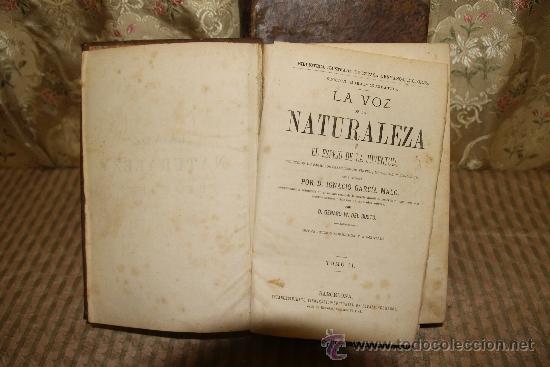 2535- LA VOZ DE LA NATURALEZA. IGNACIO GARCIA MALO. EDIT. ESPASA. S/F. 2 TOMOS. (Libros Antiguos, Raros y Curiosos - Pensamiento - Otros)