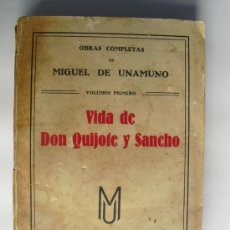 Libros antiguos: 1928 VIDA DE DON QUIJOTE Y SANCHO MIGUEL DE UNAMUNO. Lote 35899148
