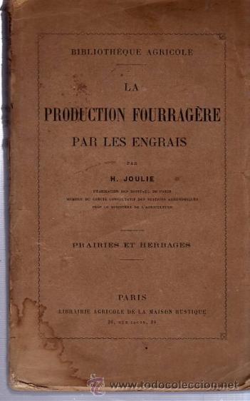 La production fourragere par les engrais comprar en todocoleccion 35906823 - La maison rustique ...