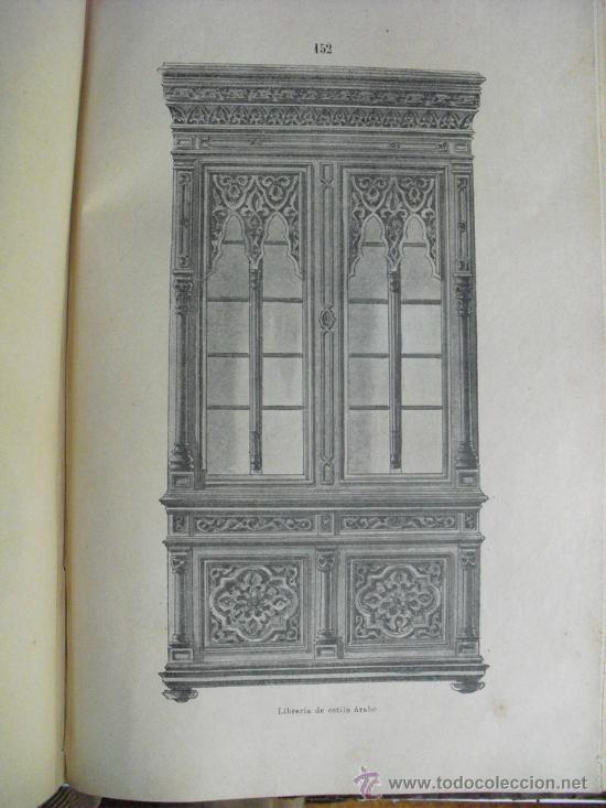 Libros antiguos: 1890 LA EBANISTERIA MODERNA. ALBUM DE 200 PLANCHAS. ENCICLOPEDIA ARTISTICA E INDUSTRIAL - Foto 3 - 35934942