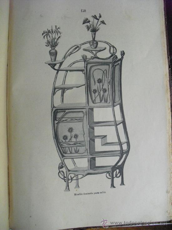 Libros antiguos: 1890 LA EBANISTERIA MODERNA. ALBUM DE 200 PLANCHAS. ENCICLOPEDIA ARTISTICA E INDUSTRIAL - Foto 4 - 35934942