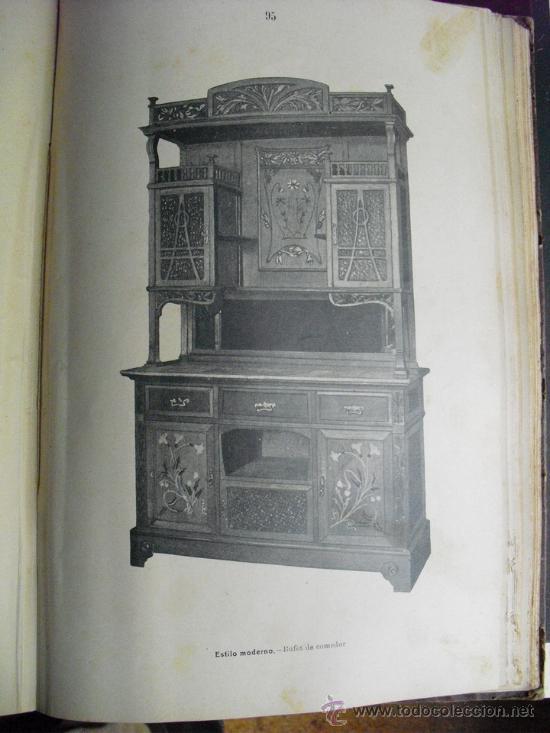 Libros antiguos: 1890 LA EBANISTERIA MODERNA. ALBUM DE 200 PLANCHAS. ENCICLOPEDIA ARTISTICA E INDUSTRIAL - Foto 5 - 35934942