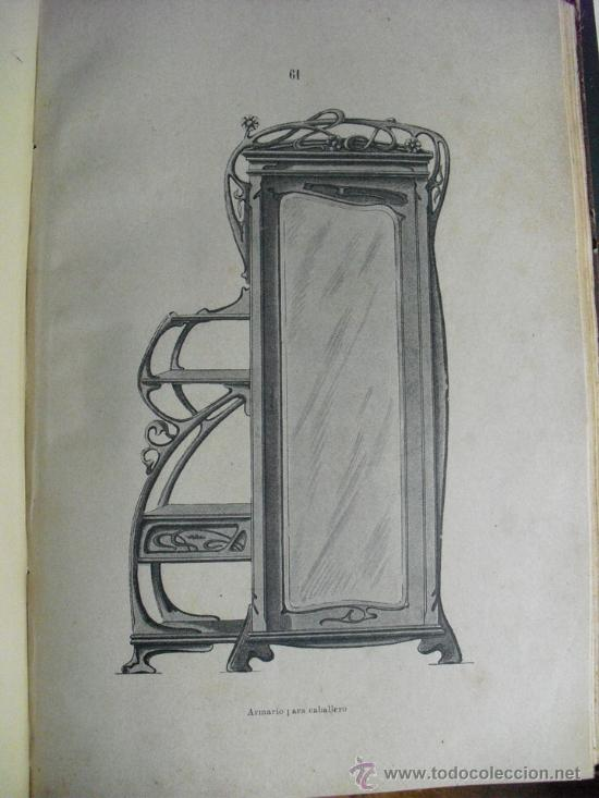 Libros antiguos: 1890 LA EBANISTERIA MODERNA. ALBUM DE 200 PLANCHAS. ENCICLOPEDIA ARTISTICA E INDUSTRIAL - Foto 6 - 35934942
