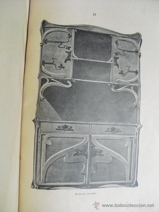 Libros antiguos: 1890 LA EBANISTERIA MODERNA. ALBUM DE 200 PLANCHAS. ENCICLOPEDIA ARTISTICA E INDUSTRIAL - Foto 7 - 35934942