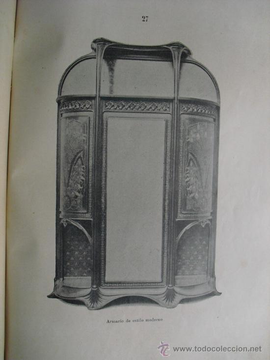 Libros antiguos: 1890 LA EBANISTERIA MODERNA. ALBUM DE 200 PLANCHAS. ENCICLOPEDIA ARTISTICA E INDUSTRIAL - Foto 8 - 35934942