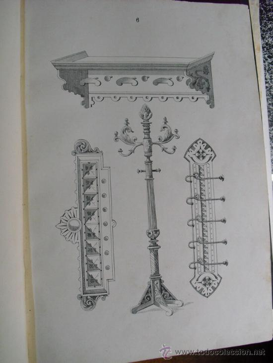 Libros antiguos: 1890 LA EBANISTERIA MODERNA. ALBUM DE 200 PLANCHAS. ENCICLOPEDIA ARTISTICA E INDUSTRIAL - Foto 9 - 35934942