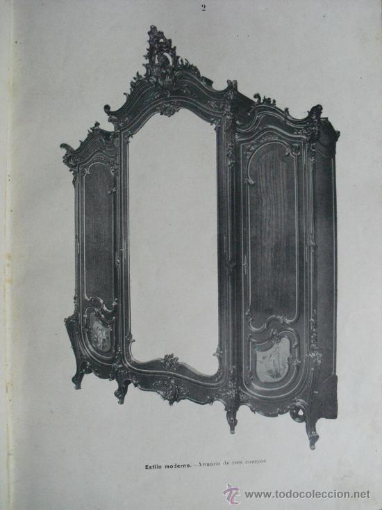 Libros antiguos: 1890 LA EBANISTERIA MODERNA. ALBUM DE 200 PLANCHAS. ENCICLOPEDIA ARTISTICA E INDUSTRIAL - Foto 10 - 35934942