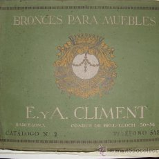 Libros antiguos: PRINCIPIOS SIGLO XX BRONCES PARA MUEBLES E. Y A. CLIMENT. Lote 35936106