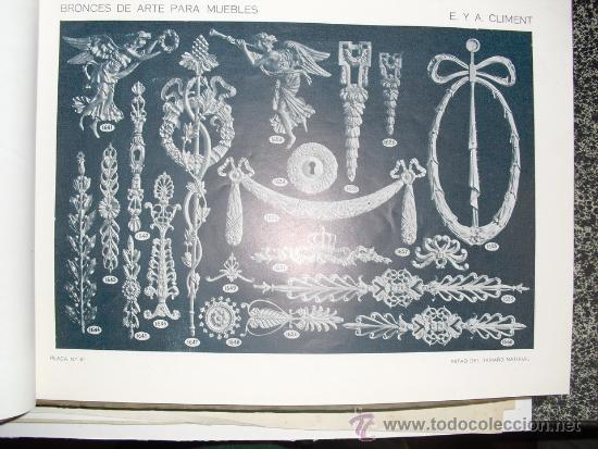 Libros antiguos: PRINCIPIOS SIGLO XX BRONCES PARA MUEBLES E. Y A. CLIMENT - Foto 2 - 35936106