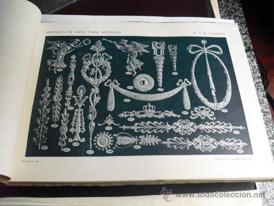 Libros antiguos: PRINCIPIOS SIGLO XX BRONCES PARA MUEBLES E. Y A. CLIMENT - Foto 3 - 35936106