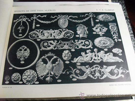 Libros antiguos: PRINCIPIOS SIGLO XX BRONCES PARA MUEBLES E. Y A. CLIMENT - Foto 4 - 35936106