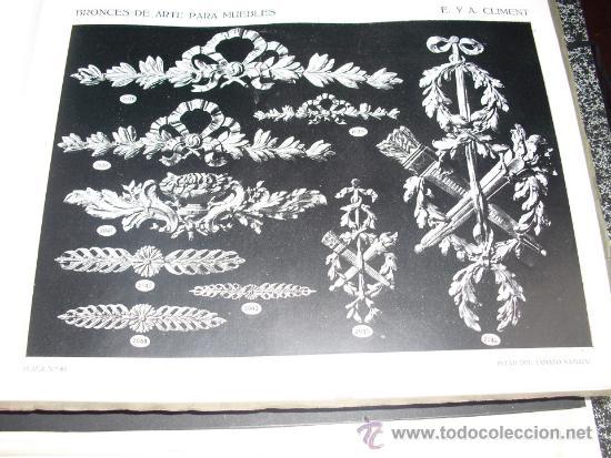 Libros antiguos: PRINCIPIOS SIGLO XX BRONCES PARA MUEBLES E. Y A. CLIMENT - Foto 6 - 35936106