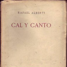 Libros antiguos: CAL Y CANTO - RAFAEL ALBERTI - REVISTA DE OCCIDENTE 1ª EDICION. Lote 36007750