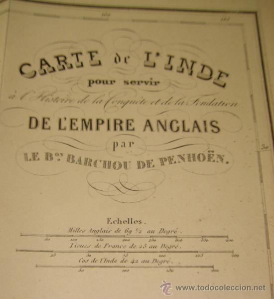 Libros antiguos: HISTOIRE DE L´EMPIRE ANGLAIS DANS L´INDE, BARCHOU DE PENHOËN, 6TMS, PARIS, LIB. DE LADRANGE 1840 - Foto 10 - 36005975