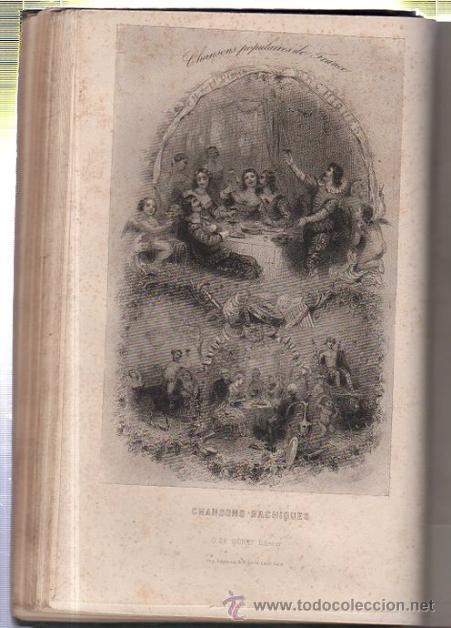 Libros antiguos: DUMERSAN ET NOËL SÉGUR, CHANSONS NATIONALES ET POPULAIRES DE FRANCE, PARIS, DE GARNIER FRERES 1866 - Foto 10 - 36041040