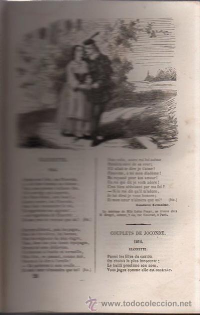Libros antiguos: DUMERSAN ET NOËL SÉGUR, CHANSONS NATIONALES ET POPULAIRES DE FRANCE, PARIS, DE GARNIER FRERES 1866 - Foto 8 - 36041040