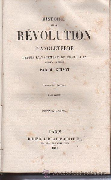 Libros antiguos: HISTOIRE DE LA REVOLUTION D´ANGLETERRE, GUIZOT, 2 TMS, DIDIER, PARIS 1841 - Foto 5 - 36039300