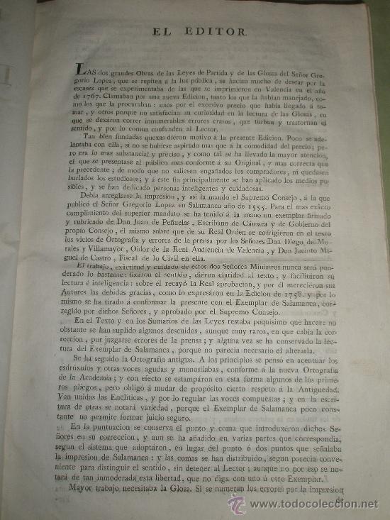 Libros antiguos: Las Siete Partidas del sabio Rey Don Alonso en Nono glosadas por el licenciado Gregorio López - Foto 2 - 36040843