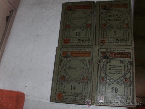 MANUALES GALLACH - 5 MANUALES - (Libros Antiguos, Raros y Curiosos - Ciencias, Manuales y Oficios - Otros)