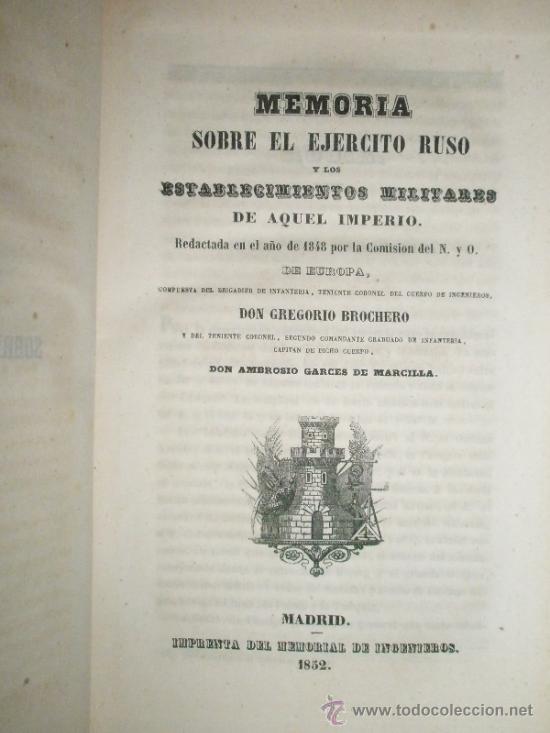 Libros antiguos: Memorial de Ingenieros (1852, Tomo VII): Memorias, artículos y noticias interesantes al arte de la - Foto 6 - 36123453