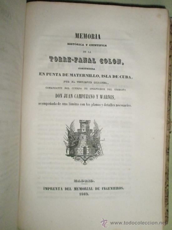 Libros antiguos: Memorial de Ingenieros (1852, Tomo VII): Memorias, artículos y noticias interesantes al arte de la - Foto 7 - 36123453