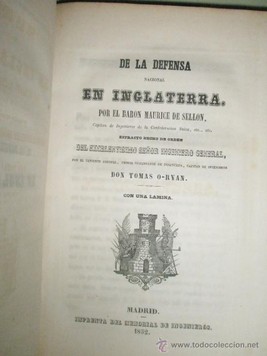 Libros antiguos: Memorial de Ingenieros (1852, Tomo VII): Memorias, artículos y noticias interesantes al arte de la - Foto 8 - 36123453