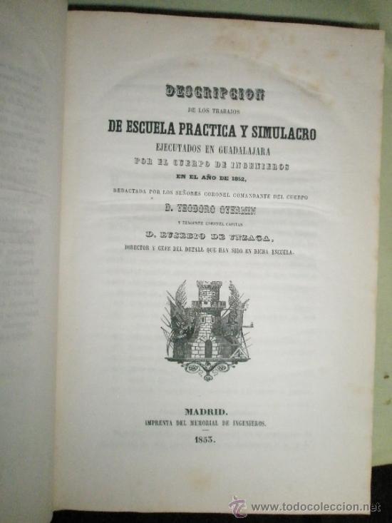 Libros antiguos: Memorial de Ingenieros (1853, Tomo VIII): Memorias, artículos y noticias interesantes al arte de la - Foto 2 - 36123564
