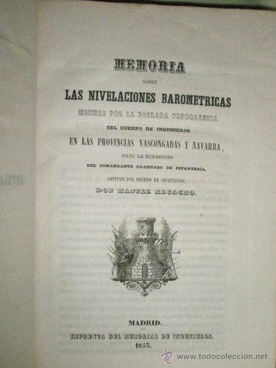 Libros antiguos: Memorial de Ingenieros (1853, Tomo VIII): Memorias, artículos y noticias interesantes al arte de la - Foto 3 - 36123564