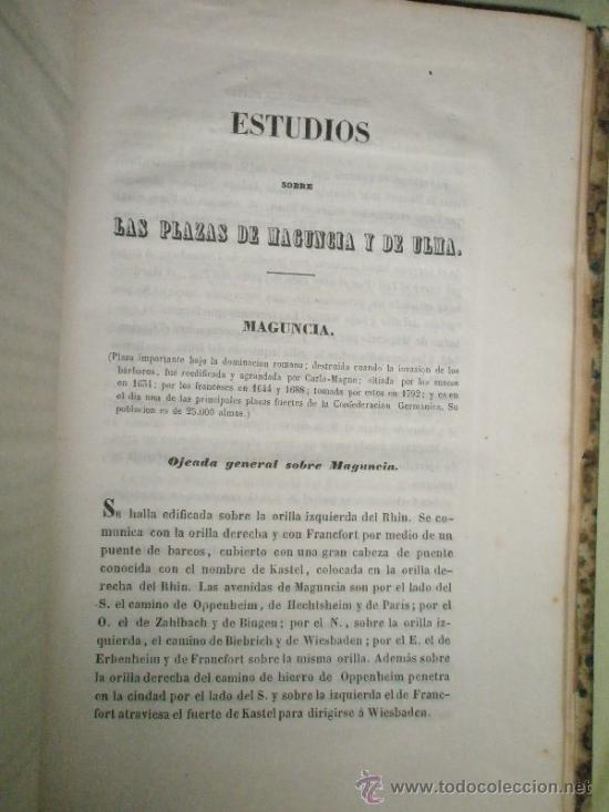 Libros antiguos: Memorial de Ingenieros (1853, Tomo VIII): Memorias, artículos y noticias interesantes al arte de la - Foto 7 - 36123564