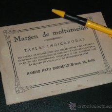 Libros antiguos: MARGEN DE MOLTURACION, TABLAS INDICADORAS. RAMIRO PATO BARBERO, AVILA.. Lote 36171968