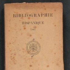 Bibliographie Hispanique 1907