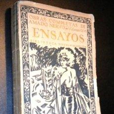 Libros antiguos: OBRAS COMPLETAS DE AMADO NERVO XXVI ENSAYOS. Lote 36305781