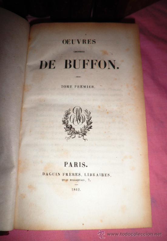 Libros antiguos: OBRAS DE BUFFON - AÑO 1842 - BELLA EDICION ILUSTRADA CON GRABADOS EN COLOR. - Foto 3 - 36367937