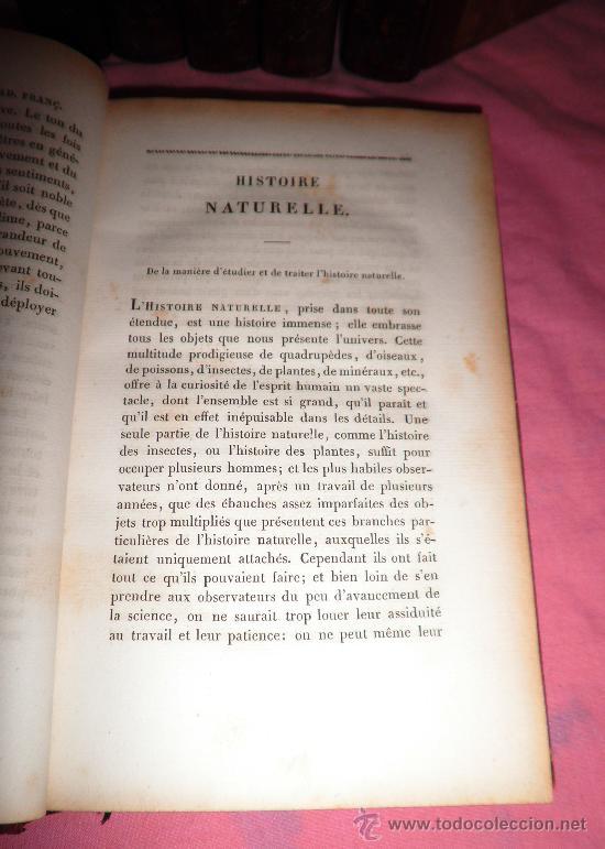 Libros antiguos: OBRAS DE BUFFON - AÑO 1842 - BELLA EDICION ILUSTRADA CON GRABADOS EN COLOR. - Foto 4 - 36367937