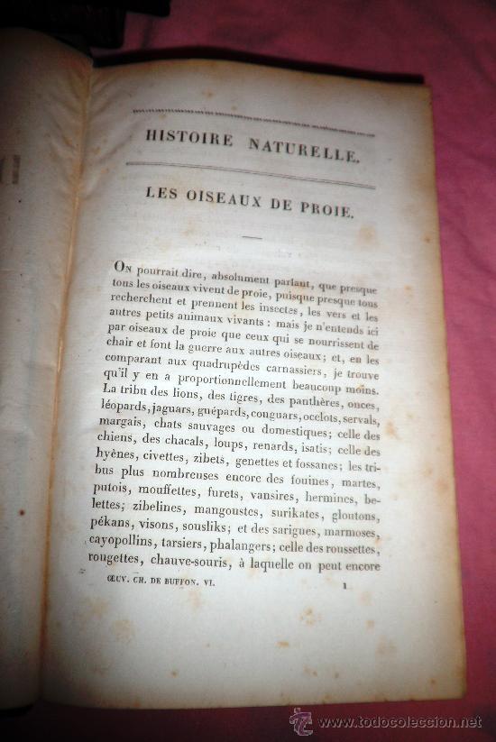 Libros antiguos: OBRAS DE BUFFON - AÑO 1842 - BELLA EDICION ILUSTRADA CON GRABADOS EN COLOR. - Foto 16 - 36367937