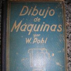 Libros antiguos: DIBUJO DE MAQUINAS, POR W. POHL - GUSTAVO GILI - ESPAÑA - 1932 - PRIMERA EDICION - RARO!!!. Lote 36407574